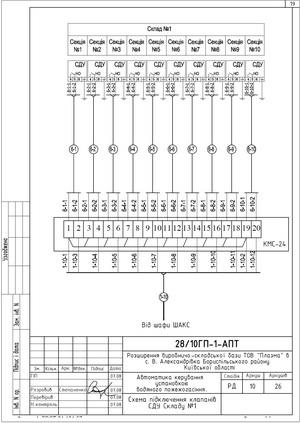 Схема подключения сигнальных