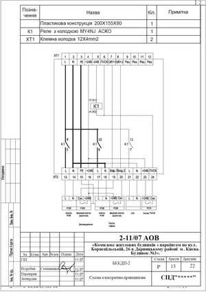 Схема электрическая принципиальная блока коммутации клапанов БККДП-2