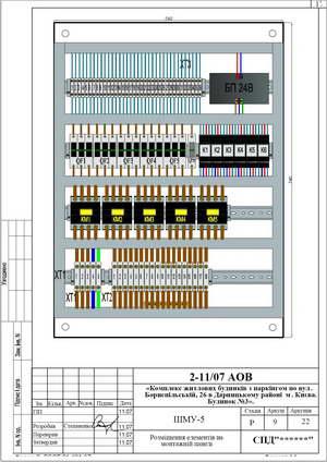 Монтажная панель шкафа местного управления ШМУ-5