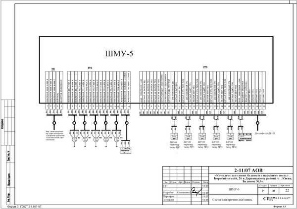 Схема внешних подключений шкафа местного управления ШМУ-5