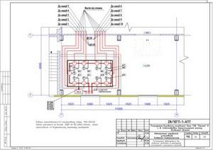 Расположение оборудования сигнальных клапанов