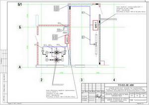 Расположение оборудования и кабельных трасс в помещении пожарной насосной