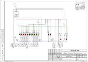 Схема электрическая принципиальная шкафа сигнализации ШС
