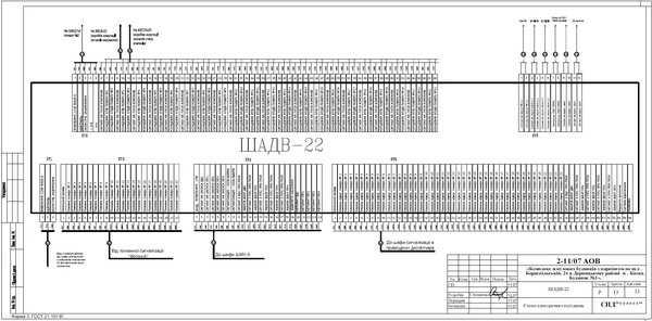 Схема внешних подключений ШАДВ-22