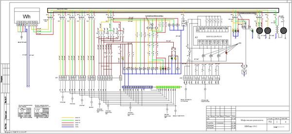 Схема электрическая принципиальная шкафа ШВРавр-100-2