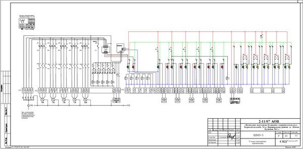 Схема электрическая принципиальная шкафа местного управления ШМУ-5.